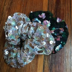Sequined Anthropologie Scrunchies